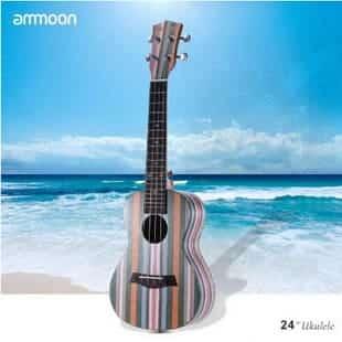 """Ammoon Colorized 24"""" Acoustic Soprano Ukulele"""