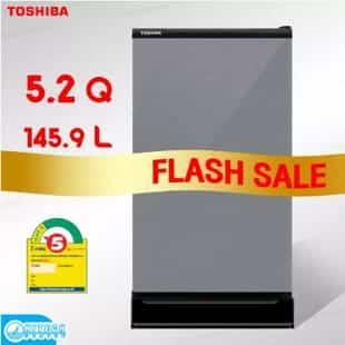 TOSHIBA ตู้เย็นโตชิบ้า 1 ประตู 5.2 คิว GR-D149